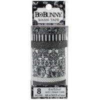 BoBunny Washi Tape 8/Pkg - Tuxedos & Tiaras