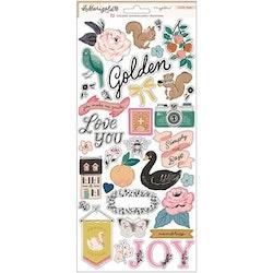 Maggie Holmes Cardstock Stickers 72/Pkg - Marigold