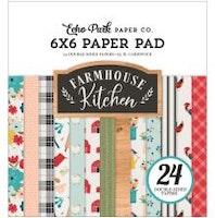 Echo Park Double-Sided Paper Pad 6X6 - Farmhouse Kitchen