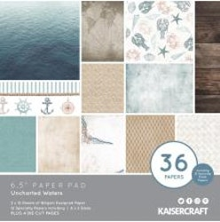 Kaisercraft Paper Pad 6.5X6.5 40/Pkg - Uncharted Waters