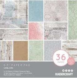 Kaisercraft Paper Pad 6.5X6.5 40/Pkg - Lady Like