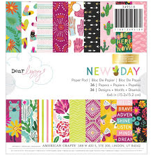 Dear Lizzy Paper Pad 6X6 36/Pkg - New Day