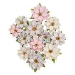 Prima Sugar Cookie Mulberry Paper Flowers 12/Pkg - ...