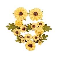 Prima Pumpkin & Spice Mulberry Paper Flowers 5/Pkg - ...