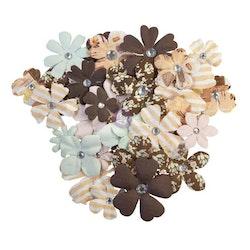 Prima Golden Desert Mulberry Paper Flowers 36/Pkg - Nogal