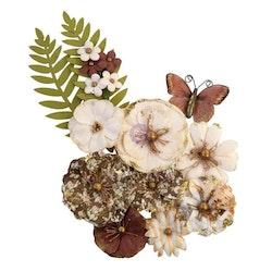 Prima Golden Desert Mulberry Paper Flowers 12/Pkg - Peyote