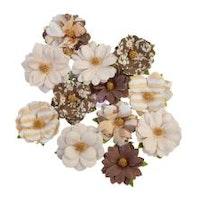 Prima Golden Desert Mulberry Paper Flowers 12/Pkg - Mojave
