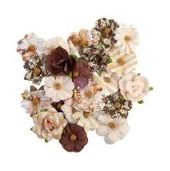 Prima Golden Desert Mulberry Paper Flowers 24/Pkg - Salton
