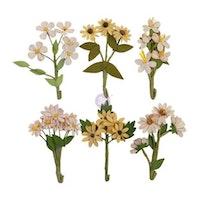 Prima Golden Desert Mulberry Paper Flowers 6/Pkg - ...