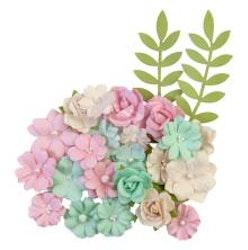 Prima Dulce Mulberry Paper Flowers 24/Pkg - Sweet Treats