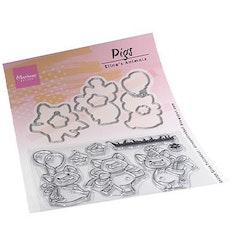 MARIANNE DESIGN CLEARSTAMP + DIE  Eline's Pigs