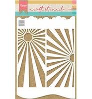 MARIANNE DESIGN CRAFT STENCIL  Slimline Sunburst - A4