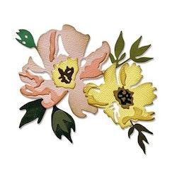 "SIZZIX/TIM HOLTZ THINLITS DIE ""Brushstroke Flowers #1"""