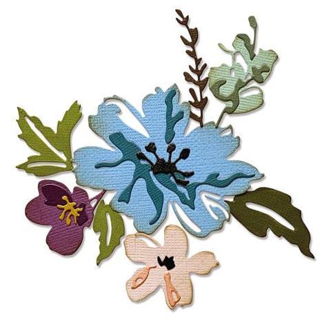 "SIZZIX/TIM HOLTZ THINLITS DIE ""Brushstroke Flowers #2"""