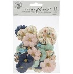 Prima Capri Mullberry Paper Flowers 24/pkg - Mare verde