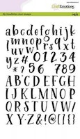 CraftEmotions clearstamps A5 - handletter - alphabet ...