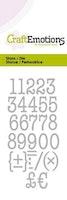 CraftEmotions Die - typewriter numbers