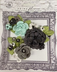Prima Flirty Fleur Mulberry Paper Flowers 3/Pkg - Stories