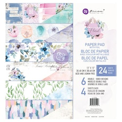 Prima Double-Sided Paper Pad 12X12 - Watercolor