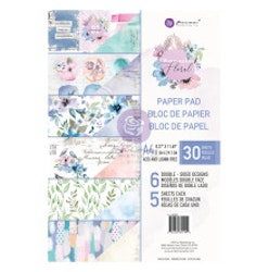 Prima Double-Sided Paper Pad A4  - Watercolor Floral