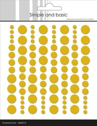 """Simple and Basic Enamel Dots """"Mustard"""
