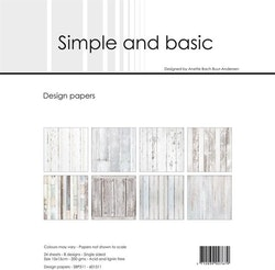 """Simple and Basic Design Papers 15x15cm """"White Wood"""""""