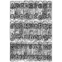 "SIZZIX/TIM HOLTZ 3D EMBOSSINGFOLDER A6 ""Typewriter"""