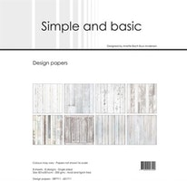 """Simple and Basic Design Papers 30,5x30,5cm """"White Wood"""""""