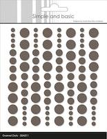 "Simple and Basic Enamel Dots ""Warm Grey (96 pcs)"""
