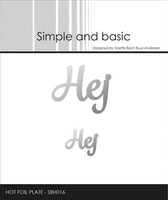 """Simple and Basic Hot Foil Plate """"Hej"""""""