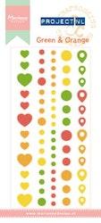 MARIANNE DESIGN Enamel Stickers - Green & Orange