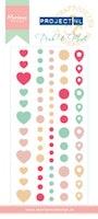 MARIANNE DESIGN Enamel Stickers Pink & Mint
