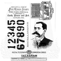 Tim Holtz Cling Stamp - Purveyor -D