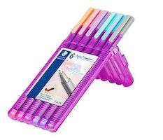 Staedtler triplus fineliner - Box 6 pc pastel colours