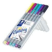 Staedtler triplus fineliner - Box 6 pc galaxy colours