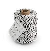 Vivant Cord Cotton Twist black / white - 50 MT 2MM