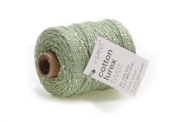 Vivant Cord Cotton Lurex Twist olive green / gold - 50 ...