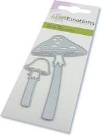 CraftEmotions Die - Long-stemmed mushrooms