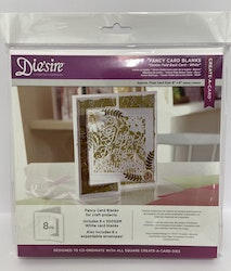 """Crafter's Companion """"Fancy Cards WHITE"""" 8 Kort/Kuvert"""