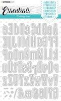 Studio Light Cutting Die Alphabet Tall Essentials nr.390
