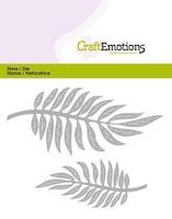 CraftEmotions Die - tropical leaves
