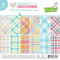 Lawn Fawn Petite Paper Pack 6X6 - Perfectly Plaid Remix