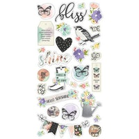 Simple Stories Chipboard Stickers 6X12 - Bliss