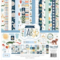 Echo Park Welcome Baby Boy 12x12 Inch Collection Kit