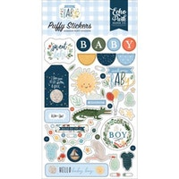 Echo Park Welcome Baby Boy Puffy Stickers