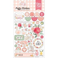 Echo Park Puffy Stickers - Welcome Baby Girl