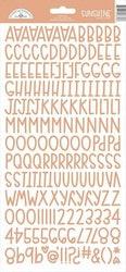 Doodlebug Design Coral Sunshine Stickers