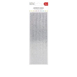Simply Creative Adhesive Gems 6mm Silver (504 st)