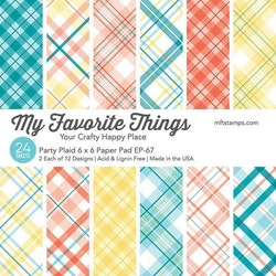 Party Plaid 6x6 Inch Paper Pad
