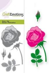 CraftEmotions Die - Ros - Card 5x10cm